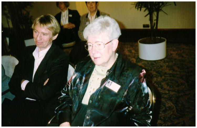 Regine Hildebrandt und Irmgard Jalowy
